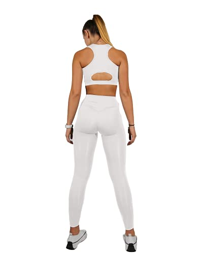 Mallas Push Up para Deporte de Mujer, Leggins Pantalon Deporte Yoga, Leggings Mujer Fitness Suaves Elásticos Cintura Alta para Reducir Vientre,Diseño Ajustado,ceñido,para realzar Figura (S)