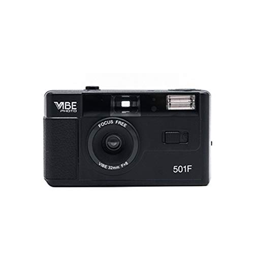 Riiai Vibe Photo 35mm Film Camera 501F - Free Pouch included Black (Black)
