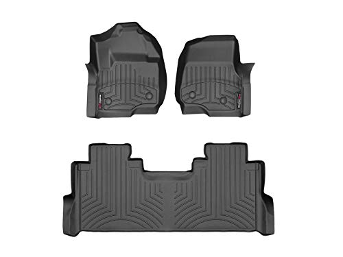WeatherTech Custom Fit FloorLiner for Ford F-250/F-350/F-450/F-550-1st & 2nd Row...