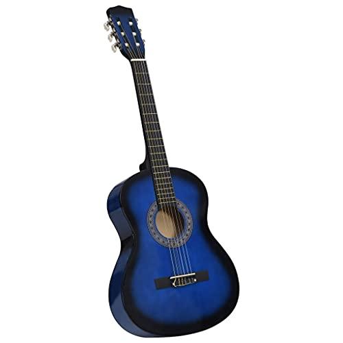 Madera de Tilo, Nailon, plástico Duro Guitarra clásica para niños y Principiantes Azul 3/4 36' Arte y Ocio Hobbies y Artes Creativas Instrumentos Musicales Instrumentos de Cuerda Guitarras