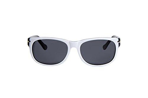 Loopies - Gafas de sol deportivas plegables (blanco y negro)