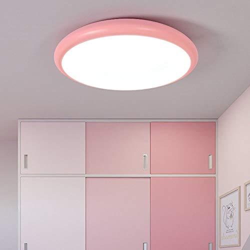 LWX Moderno, Simple, Hierro Forjado, LED, Lámpara De Techo, Área De Iluminación, 5-15 Metros Cuadrados, Lámpara, Iluminación, Pasillo, Pasillo (Color : Pink)