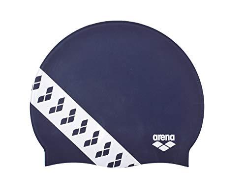 Arena Team Stripe cap, Cuffia da Gara con Bande Unisex Adulto, Blu (Navy), Taglia Unica