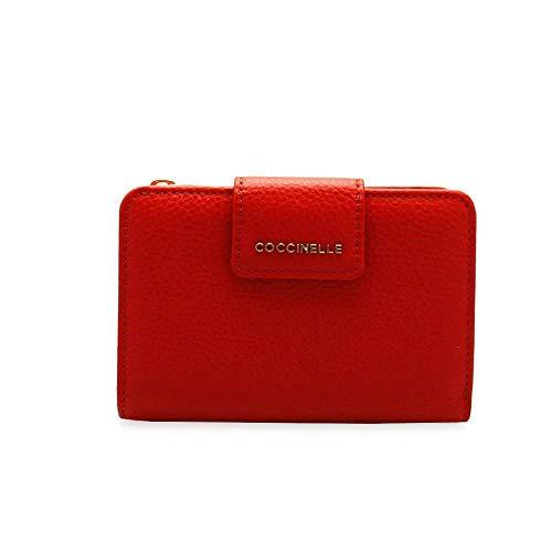 Portemonnee Coccinelle metallic soft klein E2EW5116701 R08 polish red