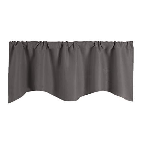 Fenteer Paneles de Cortinas de Voile de Ventana para Pasillo Cenefa 132x46cm - Gris Profundo