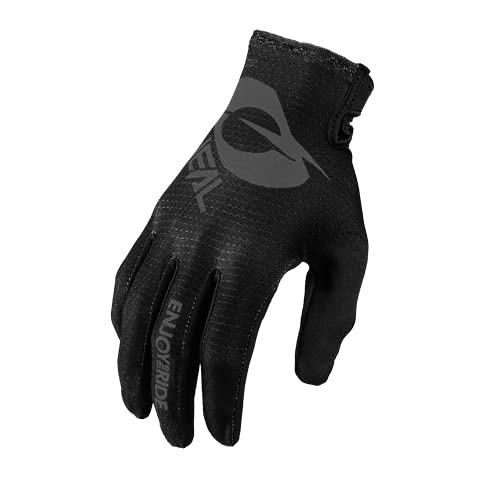 O'NEAL | Fahrrad- & Motocross-Handschuhe | MX MTB DH FR Downhill Freeride | Langlebige, Flexible Materialien, belüftete Handoberseite | Matrix Glove | Erwachsene | Schwarz Grau | Größe L