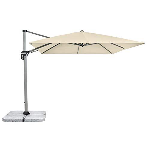 Doppler Active Pendelschirm 350x260 – Moderner Sonnenschirm ideal für Terrasse und Garten – ca. 350x260 cm – Natur