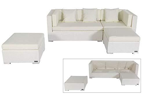 OUTFLEXX - Juego de Muebles de salón (ratán sintético, para 5 Personas, Impermeables), Color Blanco