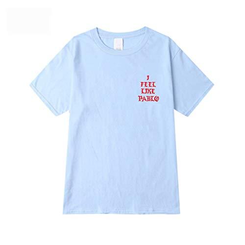 Yuandiann - Camiseta de manga corta para hombre y mujer, diseño de letra