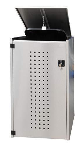 *Edelstahl Mülltonnenbox 1x120L mit Pultdach, Mülltonnenhaus, Mülltonnenverkleidung*