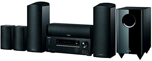Onkyo HT-S5805(B) 5.1 Sistema de Cine en casa con Receptor AV y Altavoces (Dolby Atmos, Amplificador HiFi de 100 W/Canal, Multiroom, Bluetooth, Radio, Entrada de HDMI/Audio), Negro