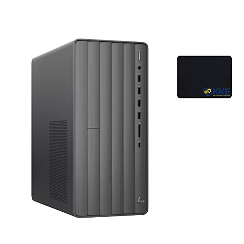 HP Envy Desktop Computer, 9th Intel Core i5-9400 2.90GHz, 16GB DDR4 Memory, 1TB PCIe Solid State Drive, WiFi, HDMI, DVD-RW, Wired Keyboard&Mouse, KKE Mousepad, Win10 Home