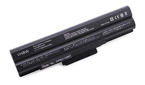 vhbw Batterie Compatible avec Sony Vaio VGN-AW21S/B, VGN-AW21VY/Q, VGN-AW21XY/Q, VGN-AW21Z/B Laptop (6600mAh, 11,1V, Li-ION, Noir) avec Puce intégrée
