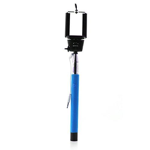 Mobility Lab ML303307 Perche Selfie télescopique Filaire Blue/Connection Jack 3,5/100% Nomade/Compatible avec la Plupart de Smartphones