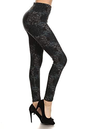 R538-PLUS Private Affair Print Fashion Leggings