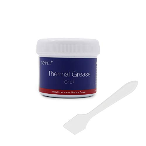 GENNEL 100g Silver Thermal Compound Paste, Heatsink Paste, High Heat Dissipation Performance, Thermal Grease for PC Processor/CPU/GPU/Chipset Cooling