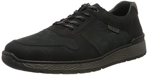 Rieker Herren B9014 Sneaker, Schwarz (Schwarz/Mare/Graphit 01), 44 EU