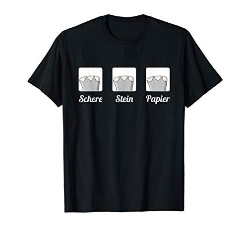 Schere Stein Papier Elefant T-Shirt