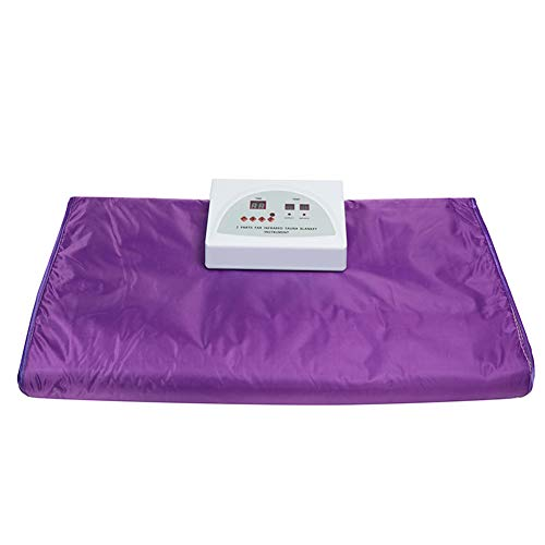 XALO Far Infrared Sauna Blanket, 180 * 80Cm Professional Personal Slimming Blanket for Weight Loss And Detox Therapy Body Shaper Spa, Timing, Purple