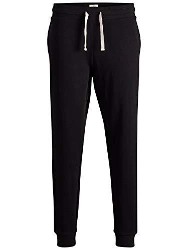 JACK & JONES Jjeholmen Sweat Pants Noos Pantalones, Negro (Black Fit:Comfort Fit), W36 (Talla del Fabricante: Large) para Hombre