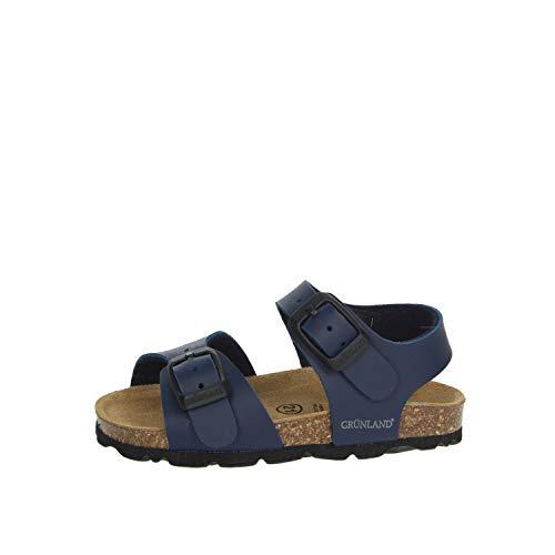 GRUNLAND Sandalo Bambino Blu Sb0027-40
