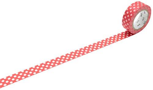 MT Rouleau de ruban de masquage à pois blancs et base rouge