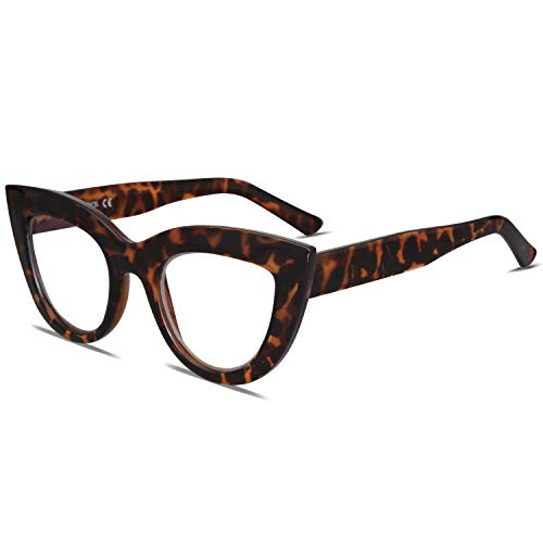 SOJOS Blue Light Blocking Glasses Retro Vintage Cateye Eyeglasses for Women Plastic Frame Hipster Party SJ5025 with Tortoise Frame/Anti-Blue light Lens