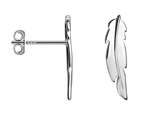 SOFIA MILANI - Damen Ohrringe 925 Silber - Ohrstecker als Blatt Zweig - 20599