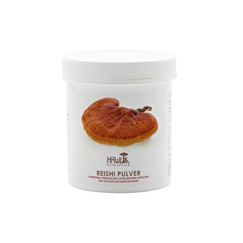Hawlik Vitalpilze - Reishi Pulver - 100 Gramm - nach dem Shellbroken Verfahren - GMP Qualität