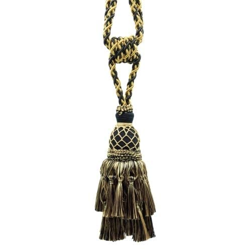 curtain tie back tassel tapestry hold back Burgandy gold