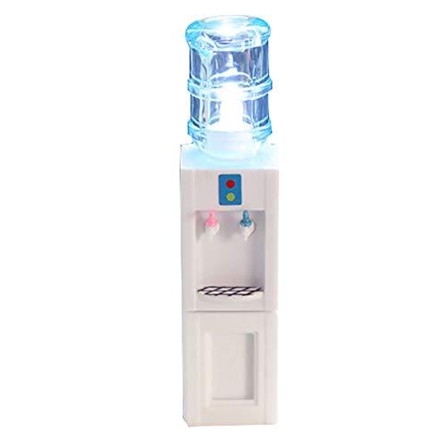 Kalaokei Puppenhaus Miniaturmöbel Zubehör Mini Wasserspender Modell Mit LED Kinder Puppenhaus Miniatur Dekor Zubehör