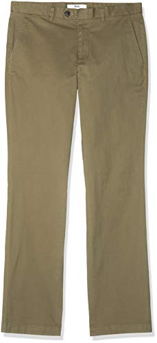 find. Pantalone Chino Regular Fit Uomo, Verde (Olive), W34/L32 (Taglia Produttore: 34)