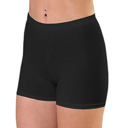 Alkato Damen Shorts Hotpants Blickdicht Stretch, Farbe: Schwarz, Größe: 40