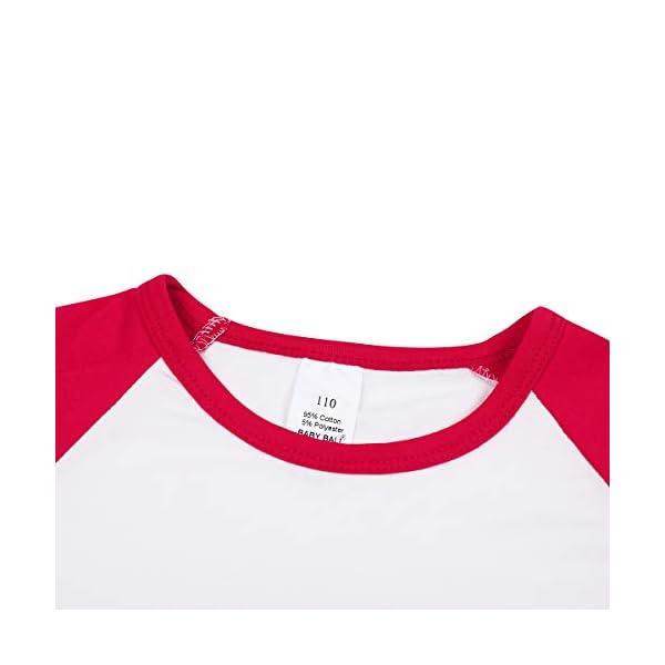 Girls Icing Lotus Ruffle Cotton T-Shirt Long-Sleeve Cuff Undershirt School Tee Christmas Raglan Casual Blouse 5