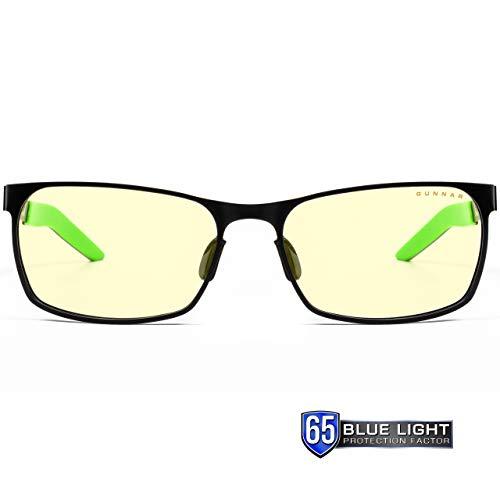 Gunnar Gaming- und Computerbrille | Model: Razer FPS, Linse: Amber | Anti-Blaulicht-Brille | Patentierte Linse, 65% Blaulicht- & 100% UV-Lichtschutz zur Verringerung der Augenbelastung