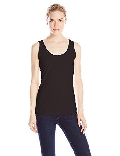 Hanes Women's Scoop Neck Tank Top, Black, Small