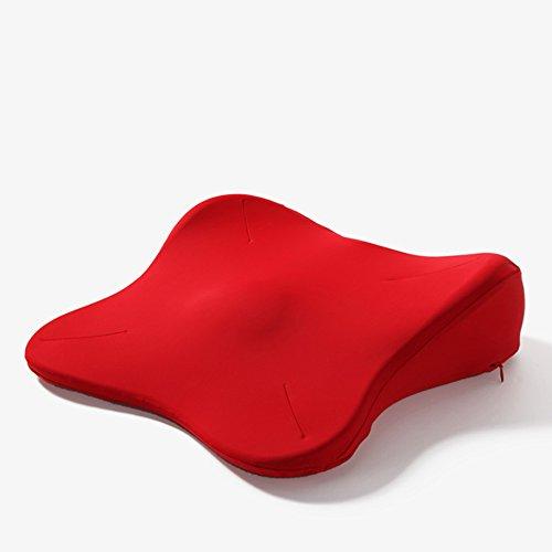 LJHA Coussin Protéger la vertèbre caudale Femelle Belles Coussinets de Hanche Aider Enceintes Cul Coussin Rouge 40 * 40 * 10cm Oreillers d'allaitement