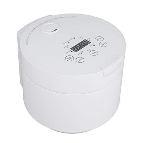 FTVOGUE- Reiskocher, 500 W, 3 l, Reiskocher aus ABS, unterstützt Brenotation, Temperatur, Kochen, Porridge, Suppe, Zuckerreduzierung, 26,5 x 24 x 21 cm (weiß)