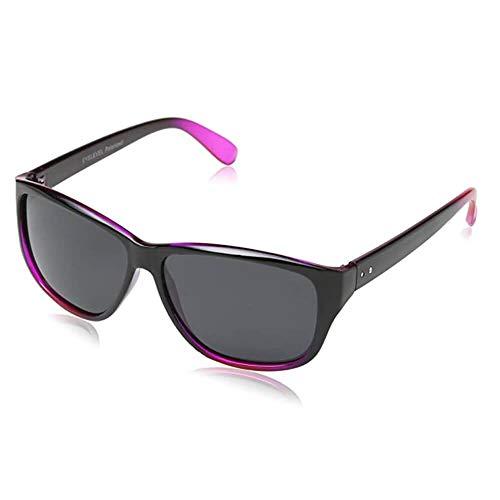 Rue B Eyelevel SU35 - Gafas de sol polarizadas, unisex, color rosa y negro y plateado