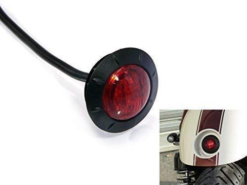 Tondo Moto LED Semaforo Fanale Posteriore - 2' 50mm per Parafango Posteriore - ad Incasso per Cafe Racer Street Scrambler Project