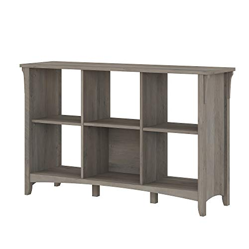 Bush Furniture Salinas 6 Cube Organizer, Driftwood Gray