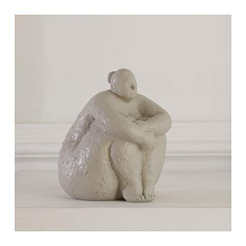 Happy Home Dicke Frau Figur Abstract Leute Resin Statue Skulptur Kleine Verzierungen des kreativen Wohnaccessoires Modern Wohnzimmer Dekoration,Blau