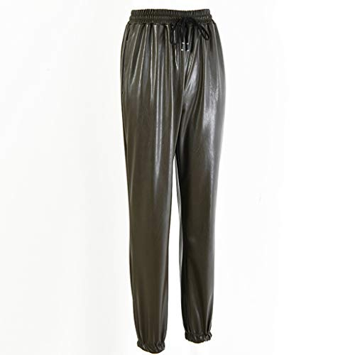 Leggings Damen Hose Pu Leder Leggings Frauen Harem Casual Pants Elastische Kunstleder Leggings Für Frauen Streetwear Legging Mb