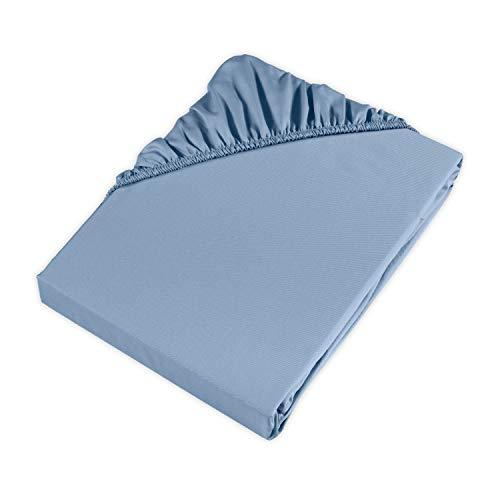 Möve hoeslaken, lichtblauw, 200 x 200 x 30 cm