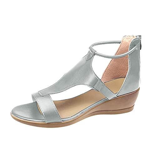 Sandals Weant - Zapatillas de frontón para mujer X-gris 4 UK