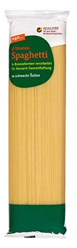 tegut... Italienische Nudeln Spaghetti al bronzo - Teigware aus 100 % Hartweizengrieß,1 x 500g