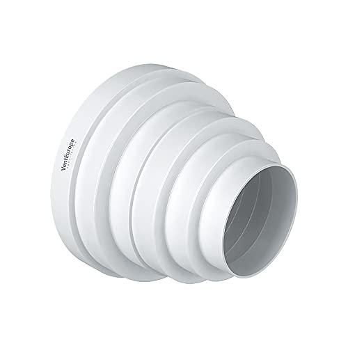 Venteurope-Ø 80-160 mm Universal Reduzierstück für Lüftungssysteme Übergang Lüftung Rundrohr Ventilation Lüftungskanal Reduzierverbinder Reduktion Rohr Ø 80 100 120 125 150 160mm
