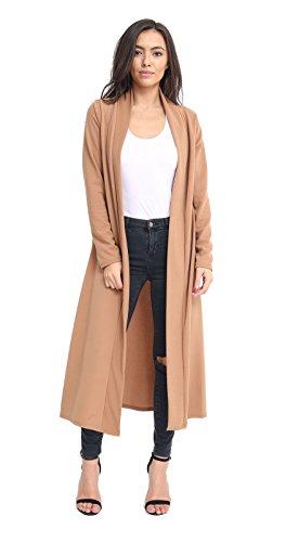 Momo&Ayat Fashions dames met lange mouwen Crepe Maxi Duster Vest UK Maat 8-26