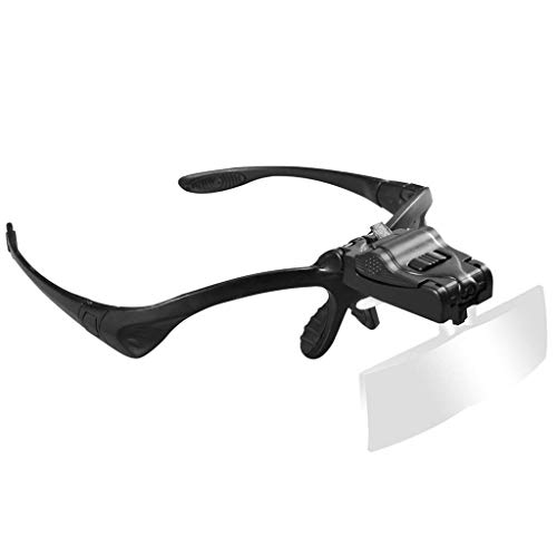 Carl Artbay Gloednieuw, hoge kwaliteit bril schijnwerper met LED-lampen HD vergrootglas, HD draagbaar