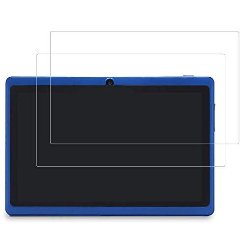 AKNICI 2 Pack Vetro Temperato Pellicola Protettiva per Haehne 7 Pollici Tablet PC/LAMZIEN 7 Pollici/JINYJIA 7 Pollici/ZONKO 7 Pollici/ANTEMPER 7 Pollici/Dragon Touch Y88X PRO/Pritom 7